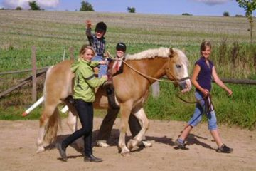 Hippotherapie mit Pferd